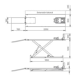 Elevador-de-motos-damarl-DM1.0M-DIBUJO-TECNICO