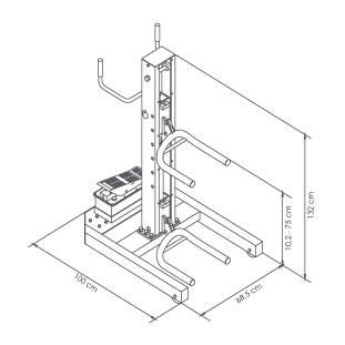 Elevador-de-taller-damarl-DM1.36L-DIBUJO-TECNICO