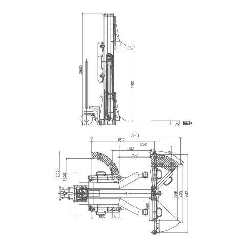 Elevador-de-taller-damarl-DM2.5Y-DIBUJO-TECNICO