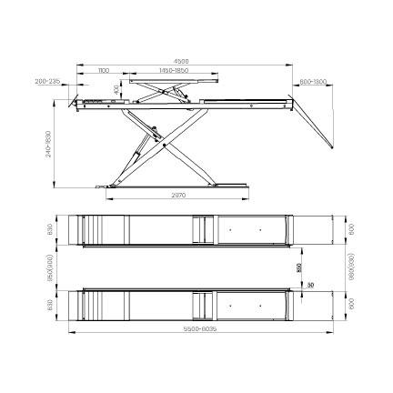 Elevador-de-taller-damarl-DM4.0MS-DIBUJO-TECNICO