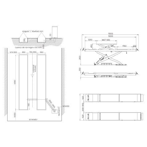 Elevador-de-taller-damarl-DM4.5MSI2H-DIBUJO-TECNICO
