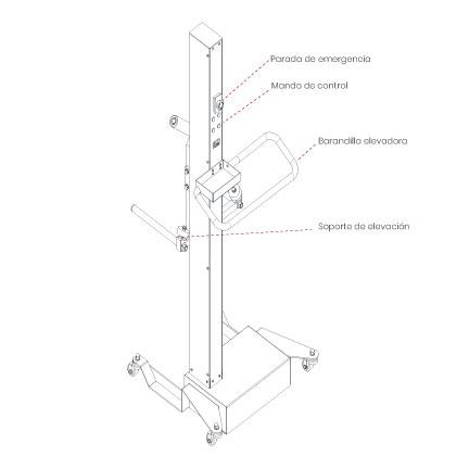 Elevador-de-taller-damarl-DM80WL-DIBUJO-TECNICO